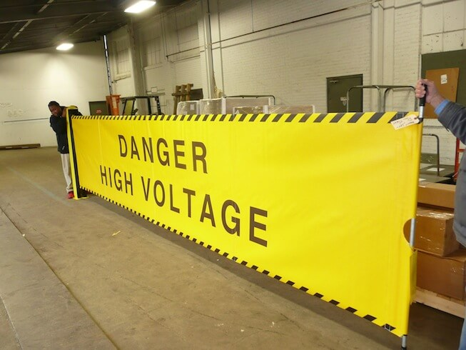 Sidewinder High Voltage Customized Barriers